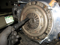 The clutch is aligned and the alignment tool can be removed.