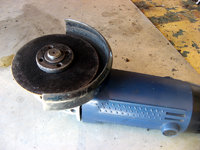 "I prefer a 4"" grinder with a metal cut-off wheel to cut the tin, but a hacksaw will work too."